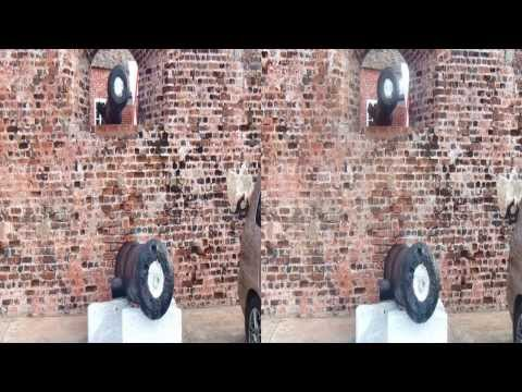 Stereo 3D Anaglyph Port Royale 3D-Jamaica.com Stereoscopic Stereoscopy