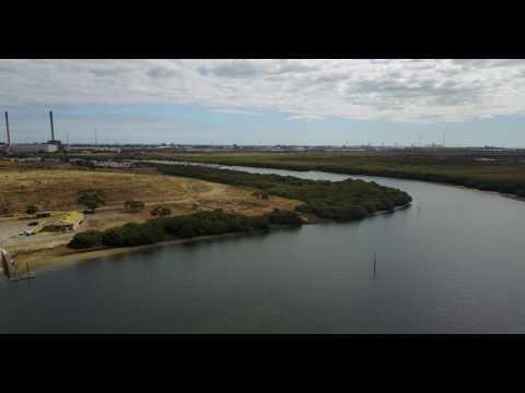 garden island adelaide drone footage