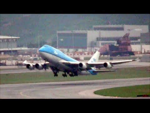 Hong Kong Airport Plane Spotting. A340, A330, B777, B747-400 and many others
