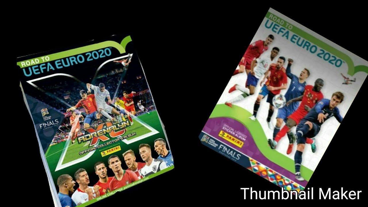 Road to EURO 2020 album stickers  not panini