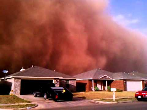 Lubbock, Tx. Dust Cloud, Sandstorm, Haboob, Dust Storm 10/17/11