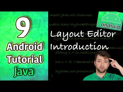 Android App Development Tutorial 9 - Layout Editor Introduction | Java thumbnail