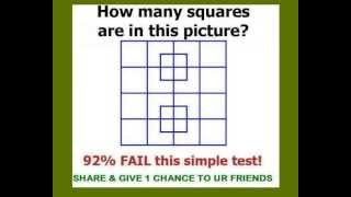 count the number of squares - puzzle with solution