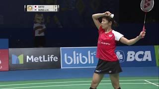 BCA Indonesia Open 2017 | Badminton F M3-WS | Sayaka Sato Vs Sung Ji Hyun