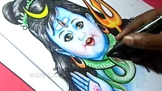 How to Draw LORD SHIVA Step by step Detailed Drawing