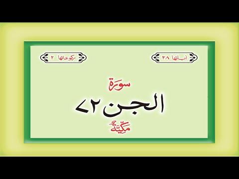 Surah 72 Chapter 72 Al Jinn  HD complete Quran with Urdu Hindi translation