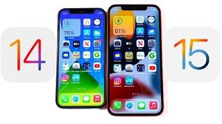 iOS 14 vs iOS 15 Speed Test!