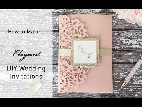 Make Your Own Wedding Invitations Elegant Wedding Invitations To Make At Home Youtube