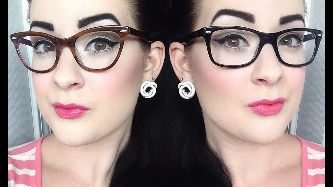everyday pinup tutorial for glasses youtube - Zenni Optical Frames