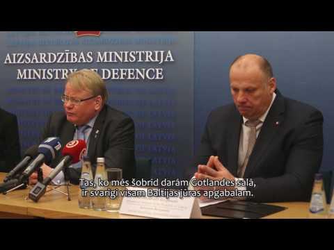 Vizītē Latvijā ierodas Zviedrijas aizsardzības ministrs