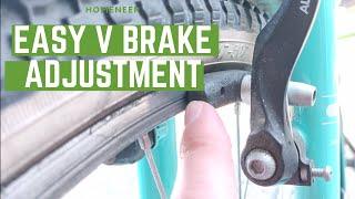 How To Fix Bİke V Brake Pads Rubbing On One Side