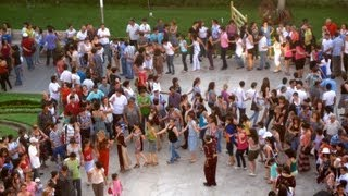 Armenian Dance Lesson at the Cascade in Yerevan, Armenia (May 25, 2012)