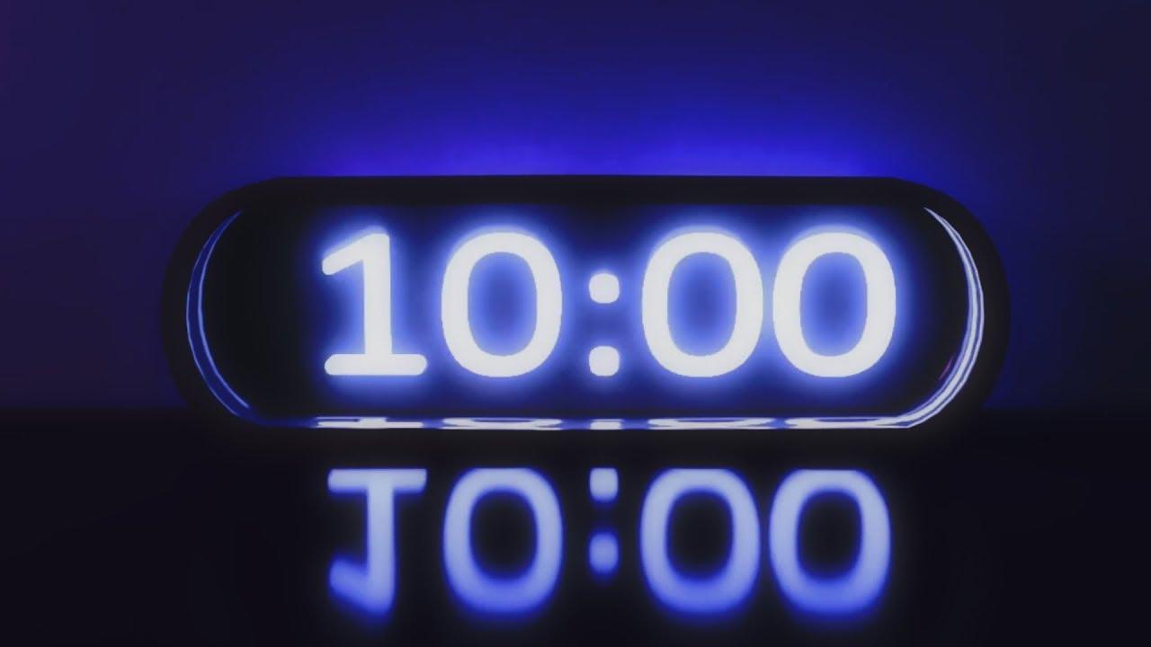 10 minutes countdown timer -  u0026quot blue tech u0026quot