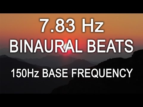 7.83Hz Schumann Earth Resonance 8 Hours Theta Binaural Beats 150Hz Base Frequency