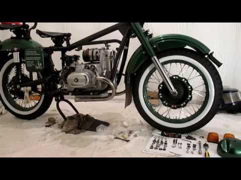 Мотоцикл Урал. Крепление переднего крыла. Установка Фары.