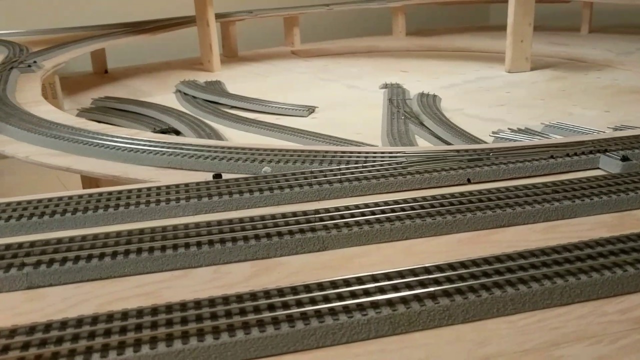 how to add elevation create a multi level lionel train set using plywood studs  multi level railroad model layout diagram #4