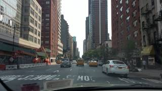 Driving on 2nd ave in Manhattan,New York City