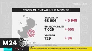 В Москве выявили 5948 новых случаев заражения коронавирусом за сутки - Москва 24