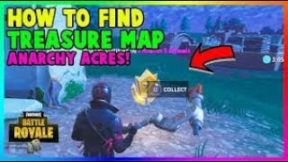 FORTNITE: ANARCHY ACRES TREASURE MAP LOCATION- SEASON 3 BATTLE PASS EASTER EGG