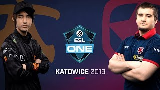 Dota 2 - Fnatic vs. Gambit - Game 1 - UB Semi #2 - ESL One Katowice 2019