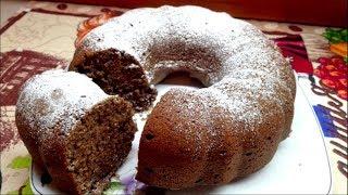 Шоколадный кекс . Очень вкусный большой шоколадный кекс.