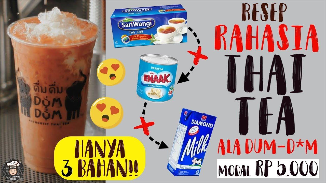 Rahasia Resep Thai Tea Mall Ada 3 Bahan Rahasianya Ala Rumahan Gampang Murah Resep Milk Tea Youtube