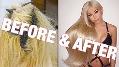 GETTING 32 IN PERMANENT HAIR EXTENSIONS!!