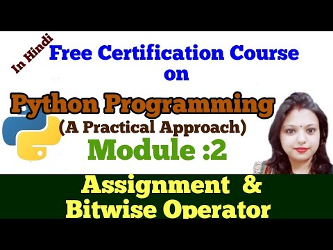 L9: Python Programming |Tutorial | Operators in Python|Assignment  and Bitwise Operator in Python thumbnail