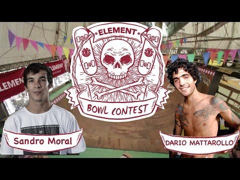 ELEMENT SKATE BOWL CONTEST - DARIO MATTAROLLO - SANDRO MORAL