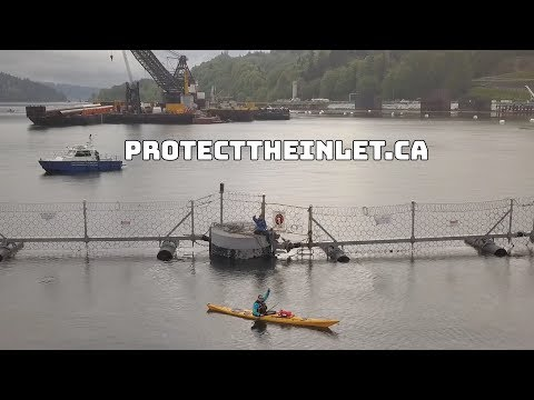 Kinder Morgan's Marine Terminal shut down by land and by sea