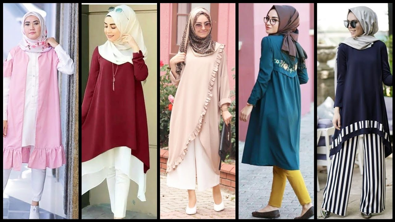 (4) Hijab Dress Designs//Muslim Dress And Trendy Hijab Style//Hijab  Outfits For Girls