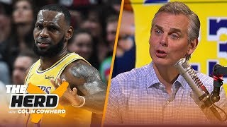 Colin reacts to LeBron's regular season debut with the Los Angeles Lakers | NBA | THE HERD