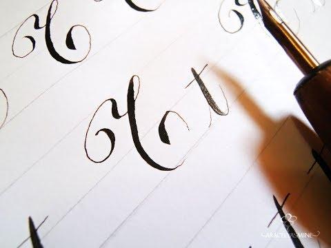 Serie caligrafia copperplate, ¿cómo escribir la letra