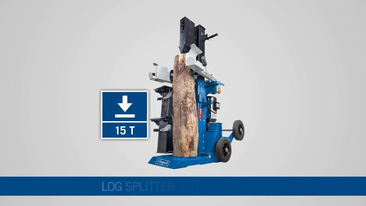 scheppach hl1500twin i holzspalter i log splitter - youtube