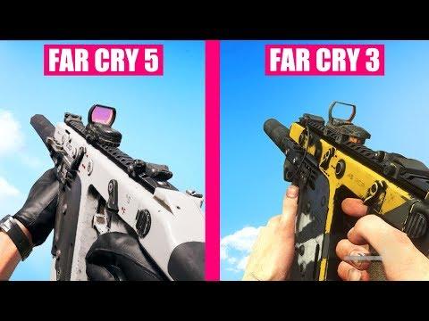 Far Cry 5 Guns Reload Animations vs Far Cry 3
