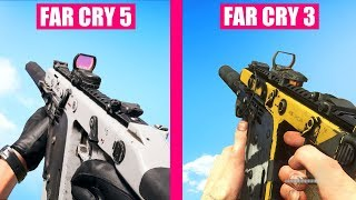 Far Cry 5 Guns Reload Animations vs Far Cry 3