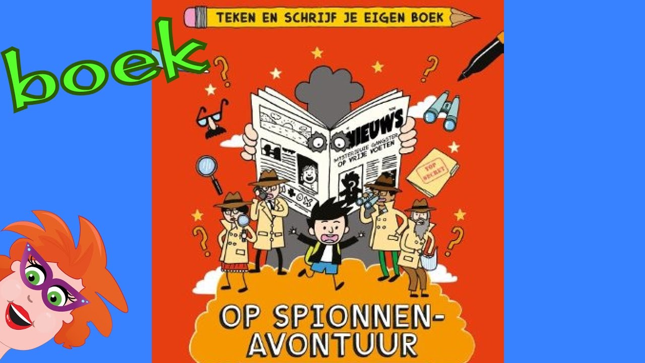Op spionnenavontuur teken en schrijf je eigen boek youtube for Teken je eigen badkamer