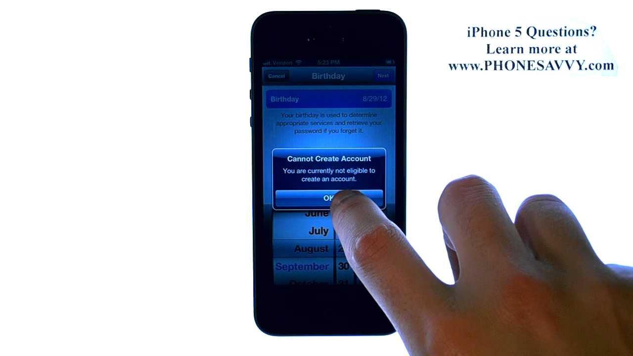 Apple iPhone 5 - iOS 6 - How do I Create or Login to my ...