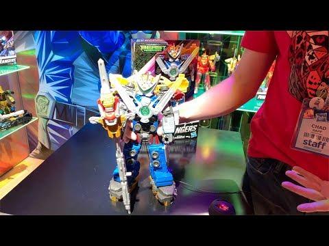 Beast-X Ultrazord Demo @ New York Toy Fair 2019