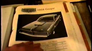 Mercury Cougar memorabilia collection 1967- 1973 Part 1. Dealer literature, models, press kits, etc.