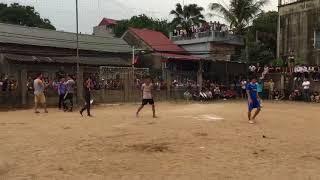 Loạt Penalty cân não tại trận chung kết giải bóng đá Hội làng thôn Đinh Xuyên 2018.