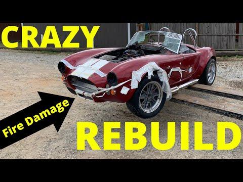 Rebuilding a FIRE DAMAGE 1965 Cobra Factory Five kit car  from copart