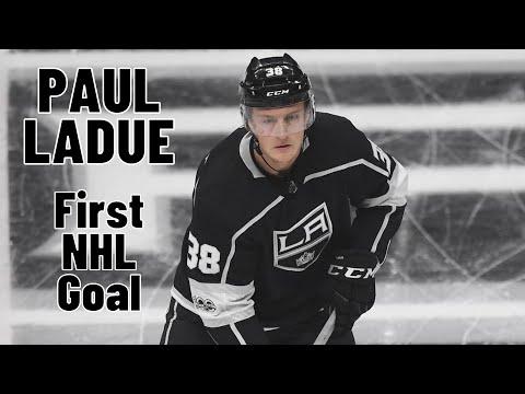 Paul LaDue #38 (Los Angeles Kings) first NHL goal 30/01/2018