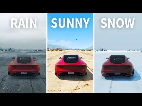 GTA V - Does Rain or Snow affect car Handling?