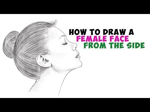 How to draw a face for beginners step by step from side female easy step by step