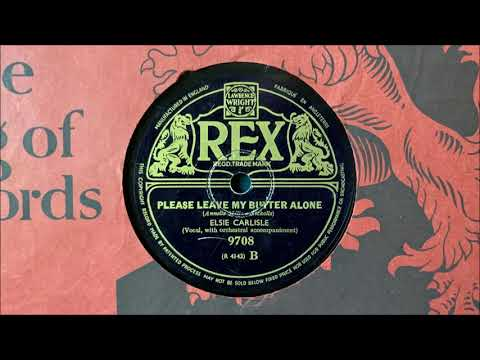 "Elsie Carlisle - ""Please Leave My Butter Alone"" (1939)"