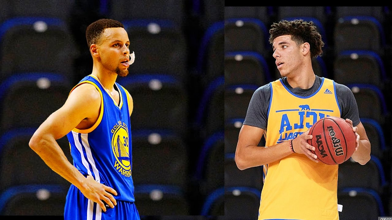dbe7495a3946 Stephen Curry VS Lonzo Ball 3 Point Contest - YouTube