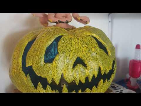 Paper Mache / Clay/ Crackle Paint / Update Halloween 2018