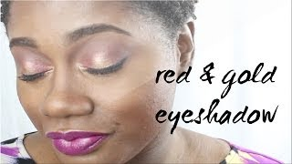 Red and Gold Eye Shadow Look Thumbnail