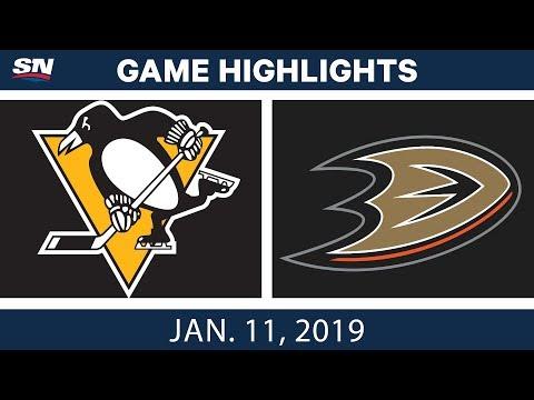 NHL Highlights | Penguins vs. Ducks - Jan. 11, 2019